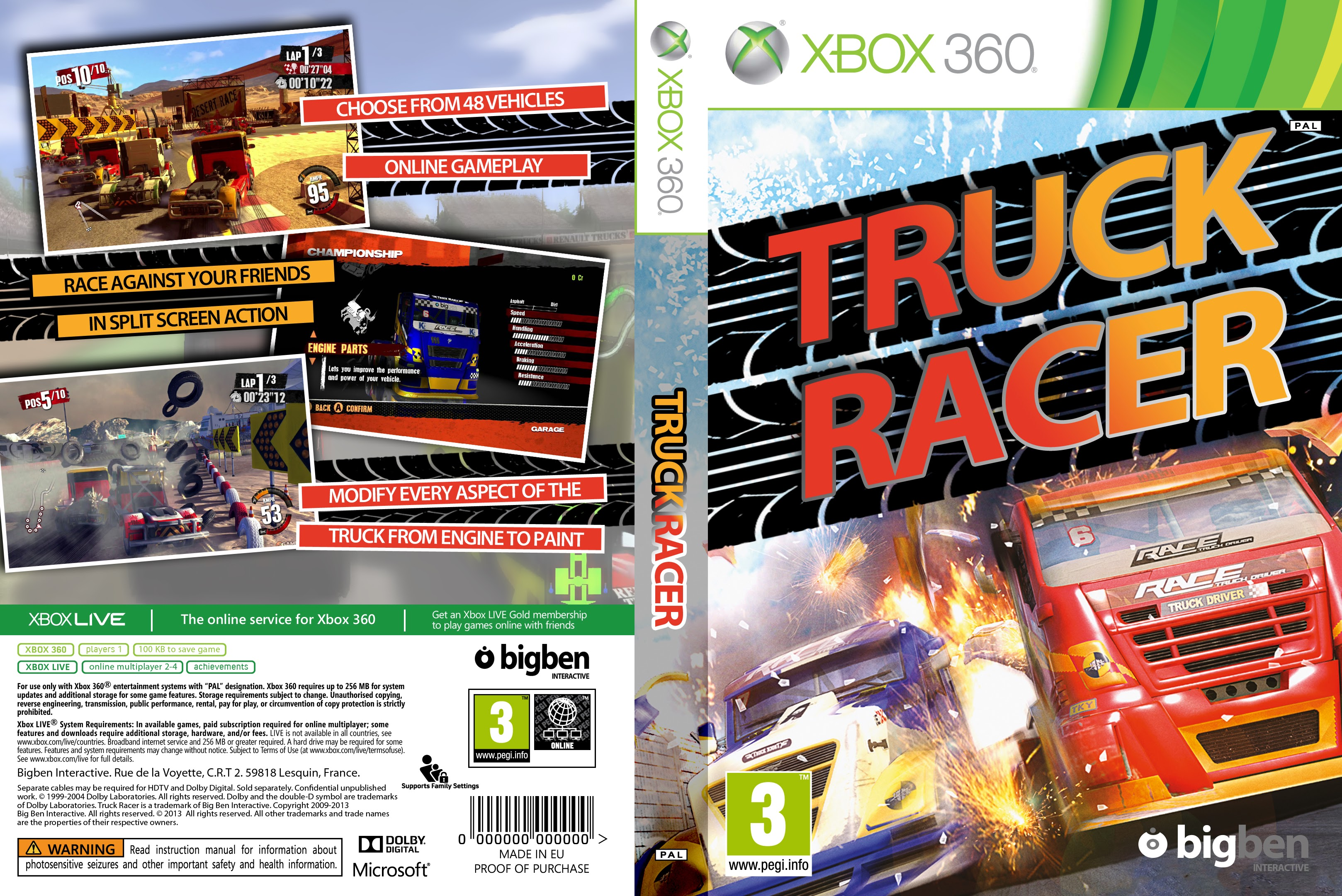 Capa Truck Racer Xbox 360 ~ Gamecover | Download de capas para jogos