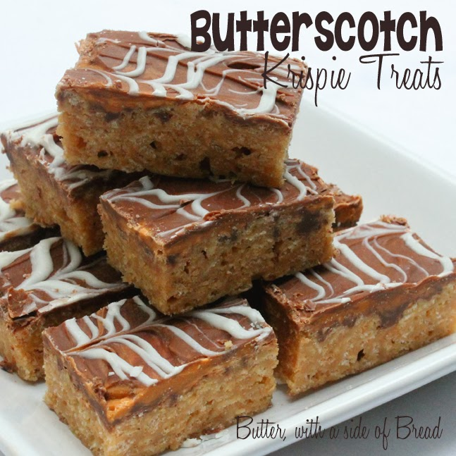 Butterscotch Krispie Treats:Butter with a side of bread