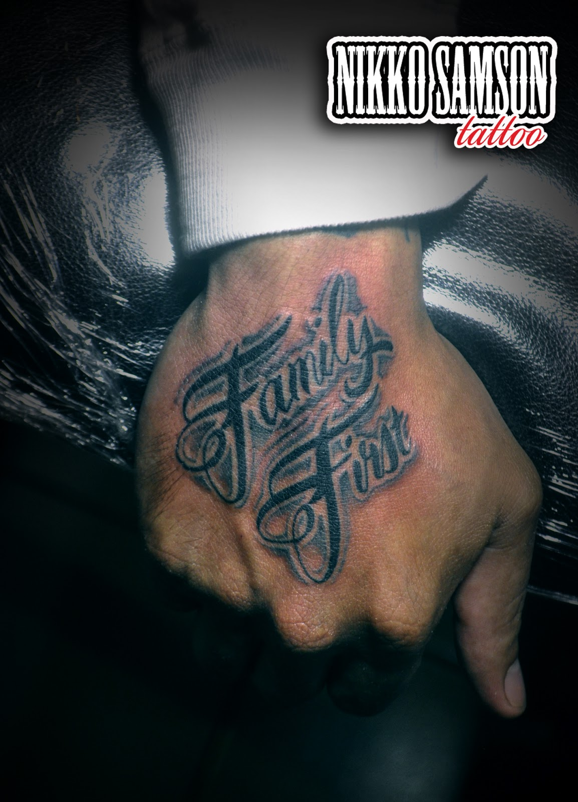 Nikko samson tattoo family first for Tattoo of family