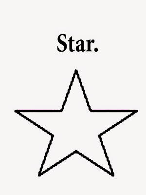 Figures and names geometry star printable shape easy representations for nursery coloring with words