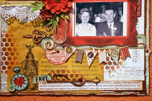 Ted & Dina Scrapbook Page by Denise van Deventer using BoBunny Star-Crossed Collection