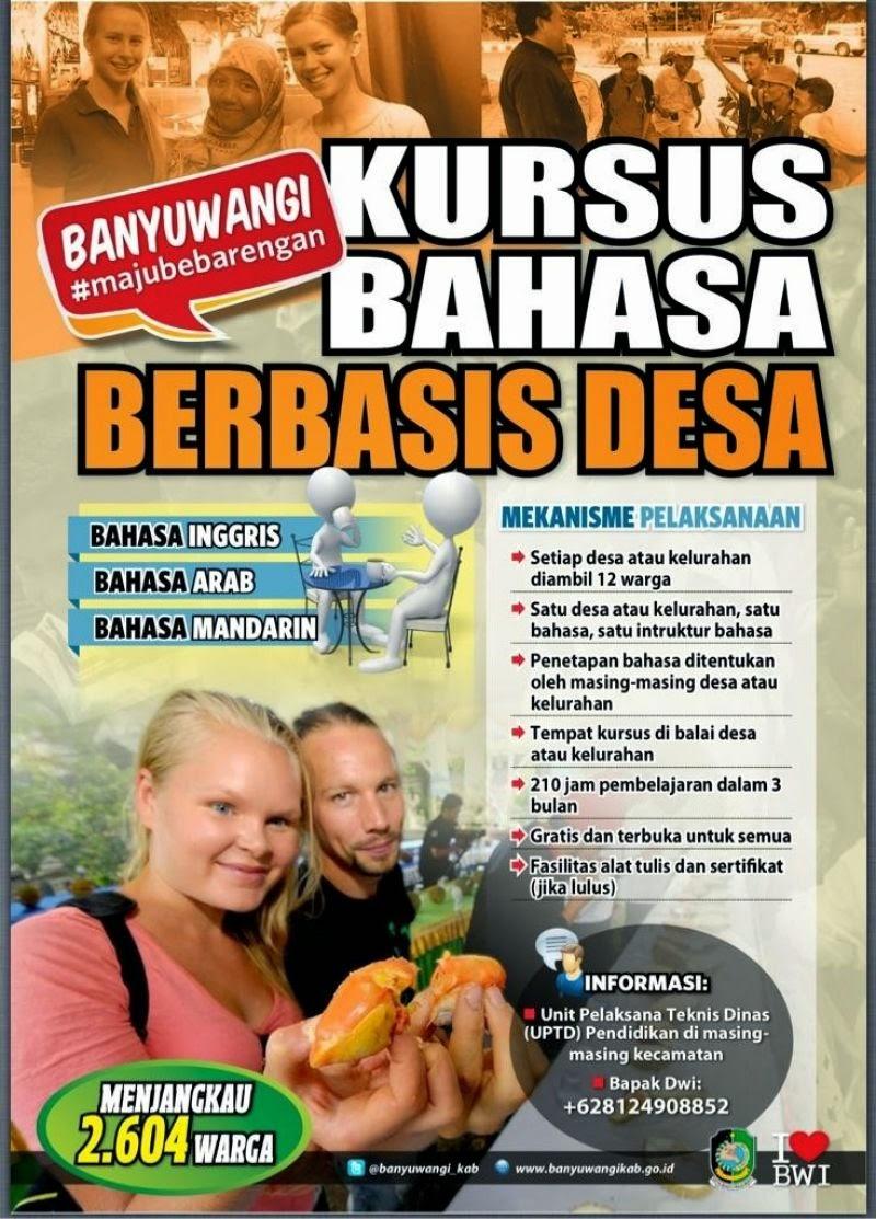 Pemkab Banyuwangi gelar Kursus bahasa asing gratis