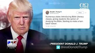 Alfa Omega TV: Donald Trump susține studiul Bibliei în școlile publice din SUA