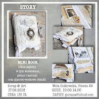 """Warsztat enkaustyczny mini book """"Story"""" w Warszawie"""