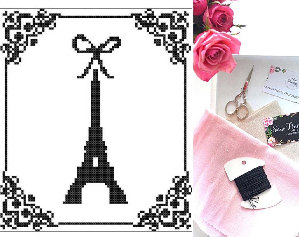 Eiffel Tower Cross Stitch Pattern