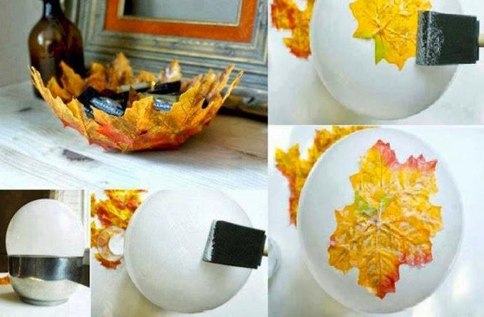 Como hacer un cuenco con hojas secas for Decoracion con hojas secas