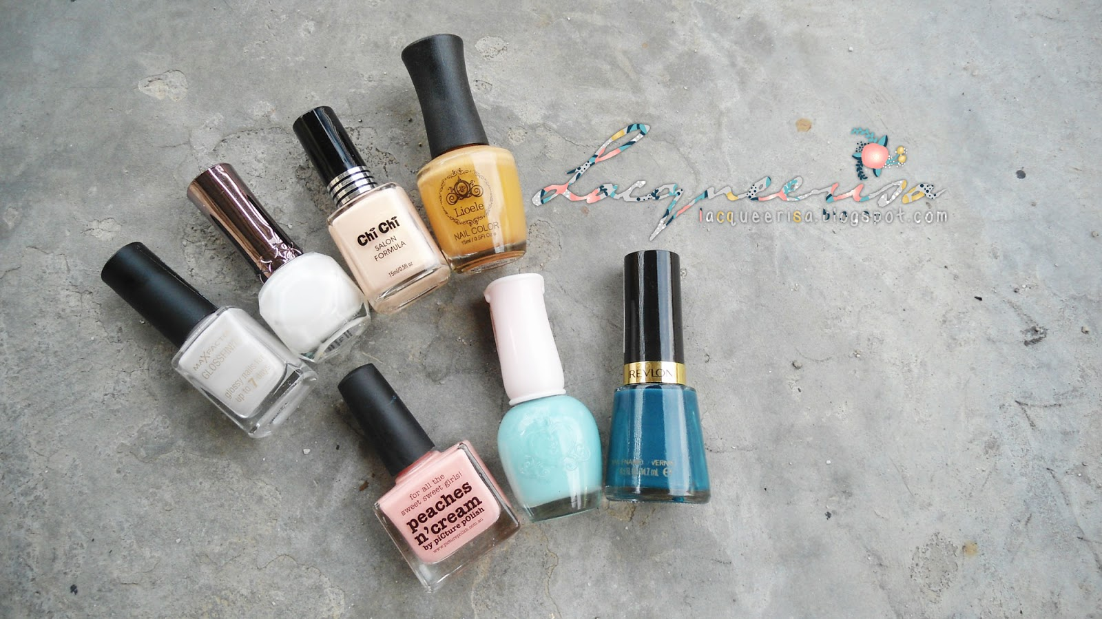 Lacqueerisa: Creamy Dreamy Floral Nails, Nail Polishes Used