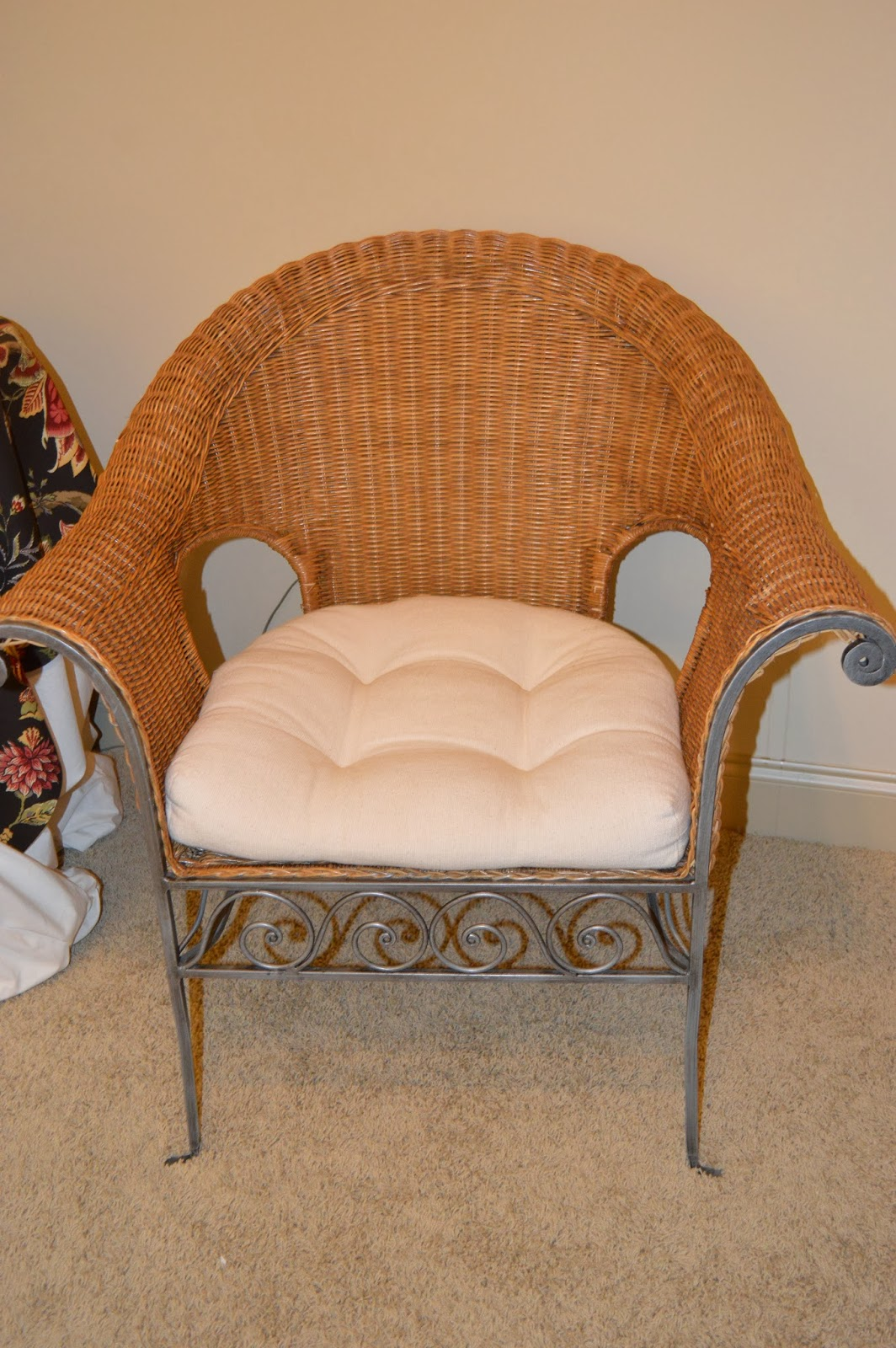 Moving Sale Sold Wicker Amp Iron Chair 85