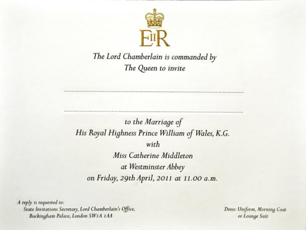 royal wedding invite wording. royal wedding invitation