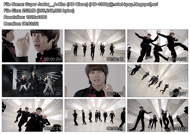 [MV] Super Junior   A Cha (HD Clean) [HD 1080p]