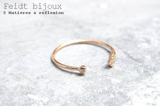 Bague en or rose et diamants Feidt Bijoux