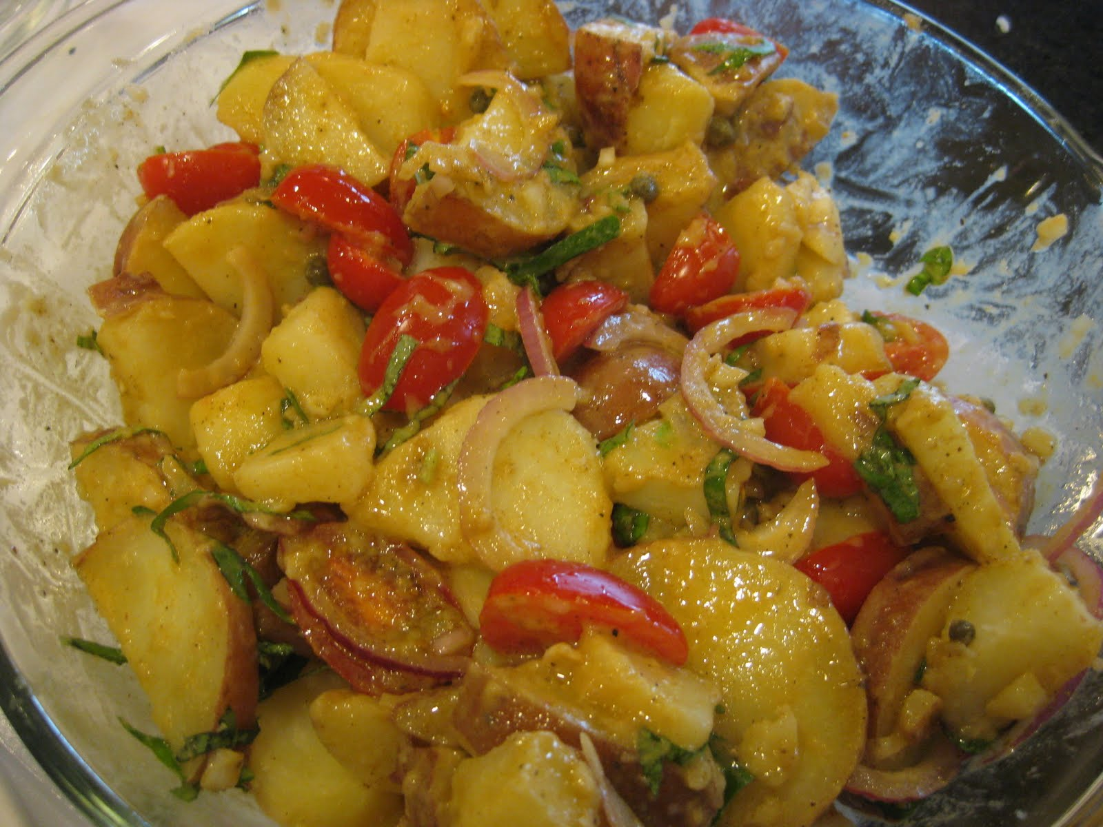Accidental Syrup: Warm Potato Salad with Sherry Vinaigrette
