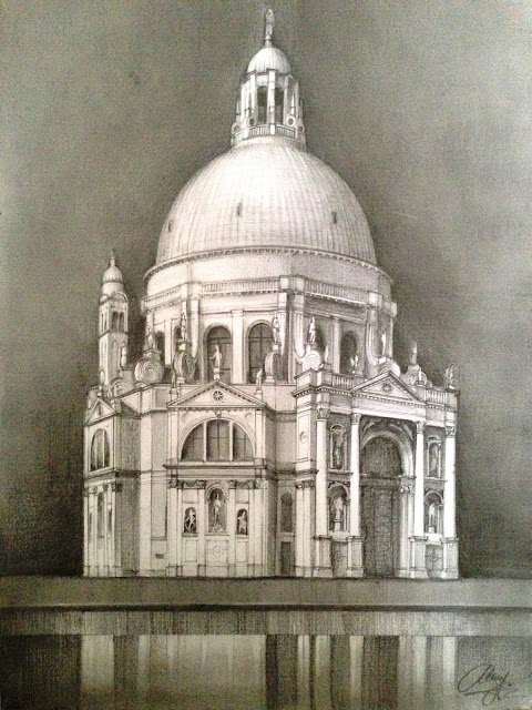 Santa Maria della Salute – pencil drawing