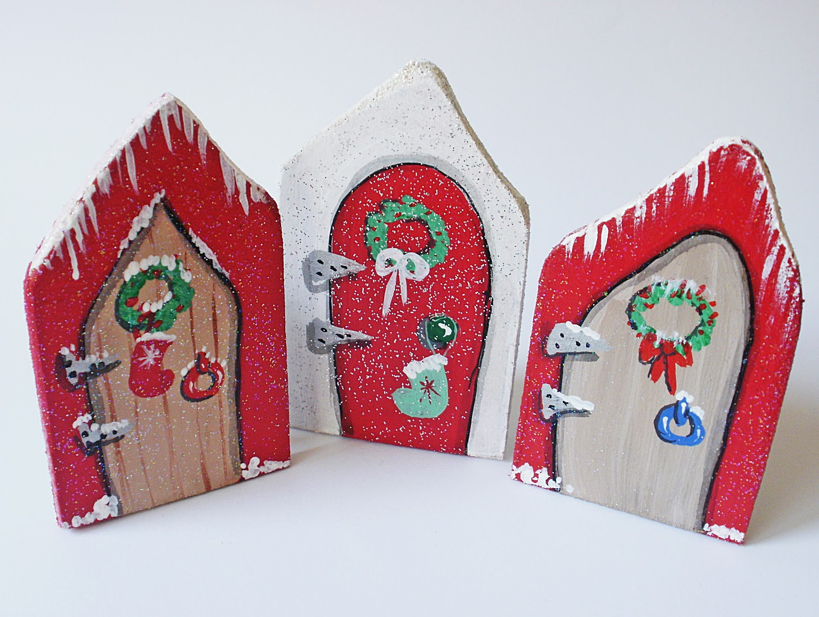 Handcrafted By Picto Christmas Doors Or Christmas Fairy Doors
