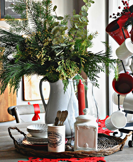 Serendipity Refined Blog: Holiday Home Tour Day 1: French Farmhouse Kitchen