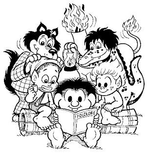 Desenho para colorir - Folclore - Turma da Mônica 2