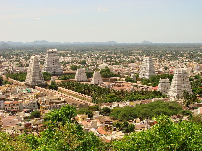 Sri Ranganathaswamy Temple panorama top view