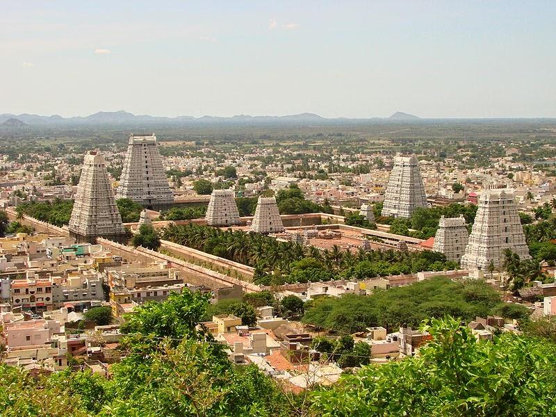 Sri Ranganathaswamy Temple panorama top view