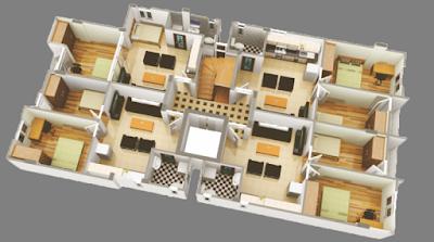 Mặt bằng chung cư mini Đình Thôn
