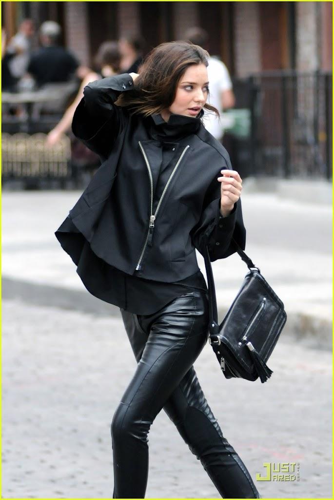 Miranda Kerr in Tight Leather Pants