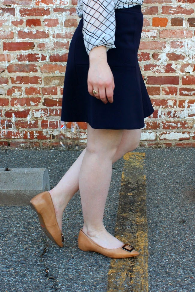 Monday Morning | Something Good, flared skirt, j.crew factory flared skirt, rockport flats