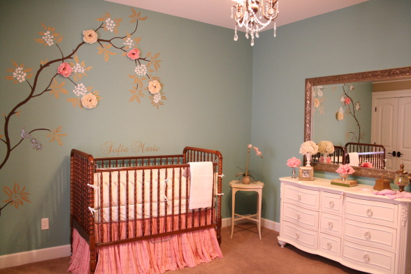 Baby nursery walldecor photos for Baby room decoration wallpaper