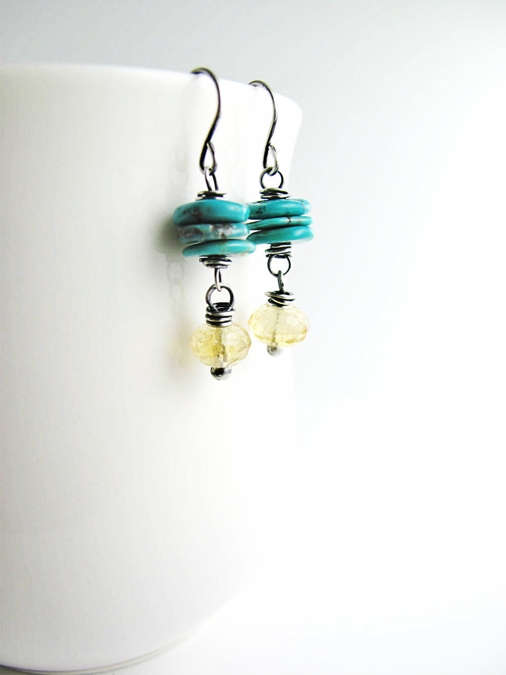 Sunshine Blue Skies Earrings by Beth Hemmila of Hint Jewelry