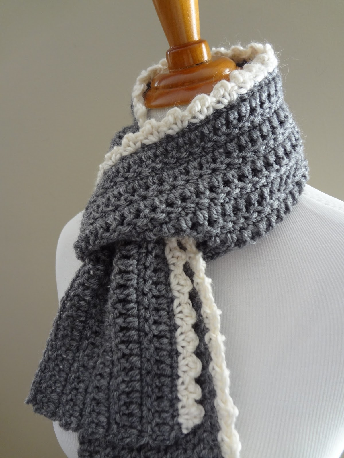 Free Crochet Patterns For Dressy Scarves : Fiber Flux: Free Crochet Pattern...Ingrid Scarf