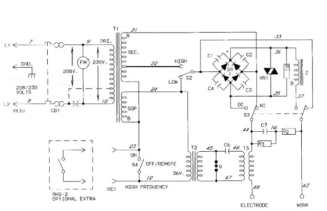 Welder+Schematic magic smoke welder rehab & foot switch  at bayanpartner.co