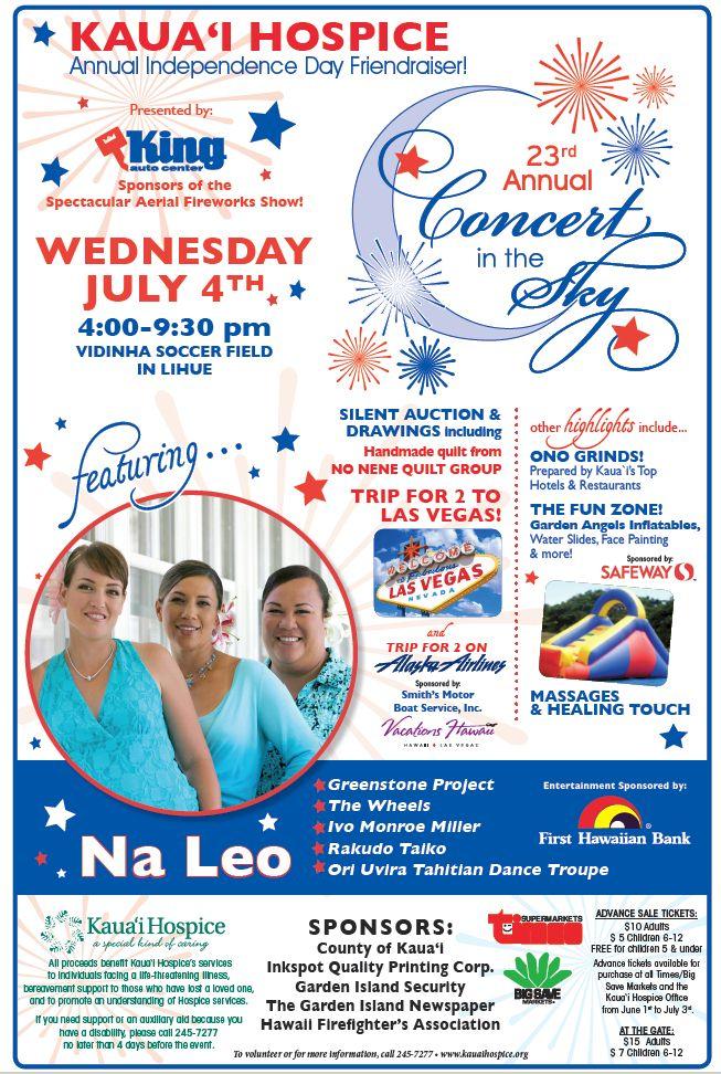 Kauai Calendar June : What s happening on kauai th of july event lihue