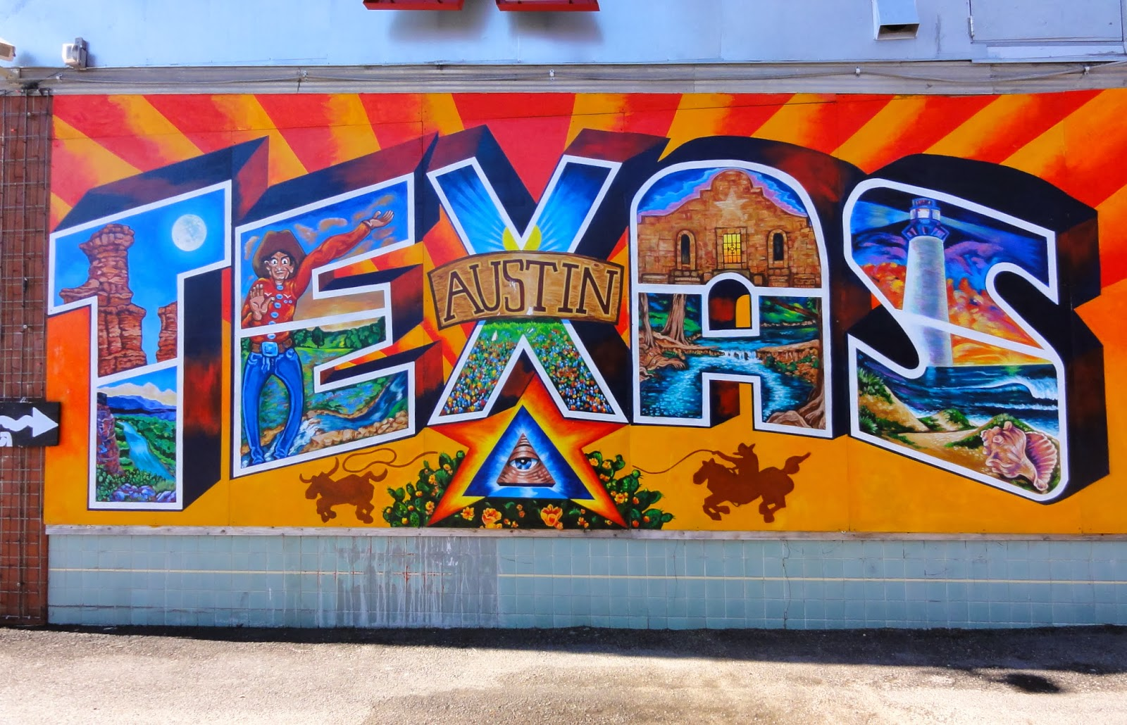 Exploring austin 39 s street art murals mosaics free fun for Austin mural wall