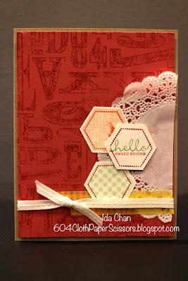 Alphabet Press Stamp Club Card by Ida Chan Stampin' Up! Vancouver