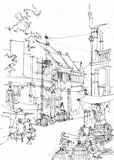 Urban Sketchers Indonesia: Eksotika Kawasan Kota Lama ...