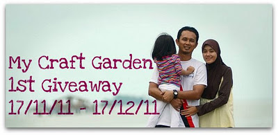 My Craft Garden 1st Giveaway