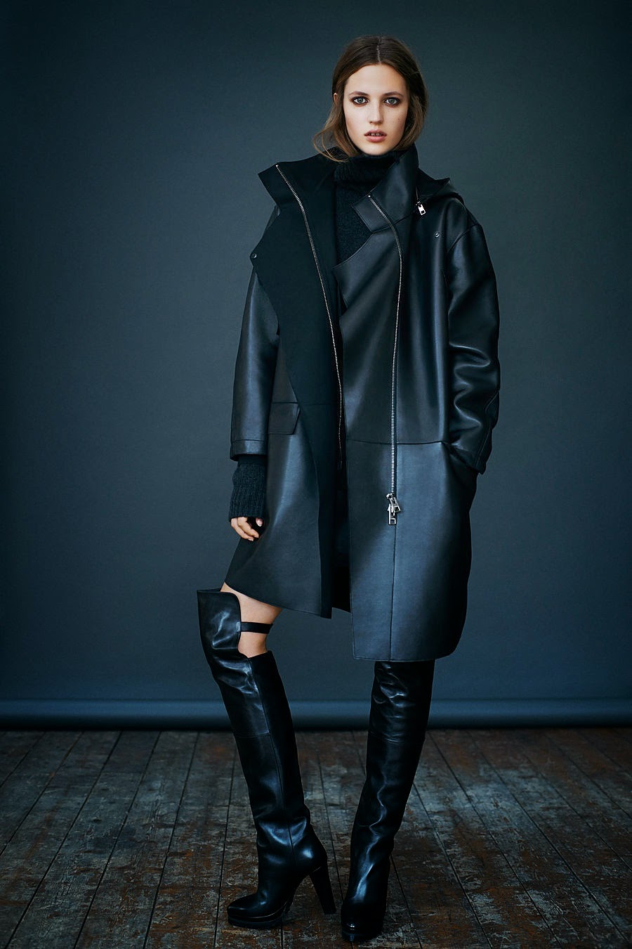all saints leather fall fashion inspiration outfits nyfw lfw fur whowhatwear blog runway street style