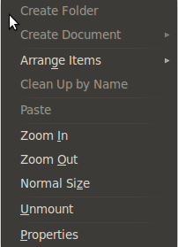Can not create file folder on newly installed ubuntu. right click menu options are disabled
