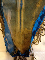 Textile undergoing art conservation at Spicer Art, embedded dirt, historic banner and flag, cleaning, repair, restoration