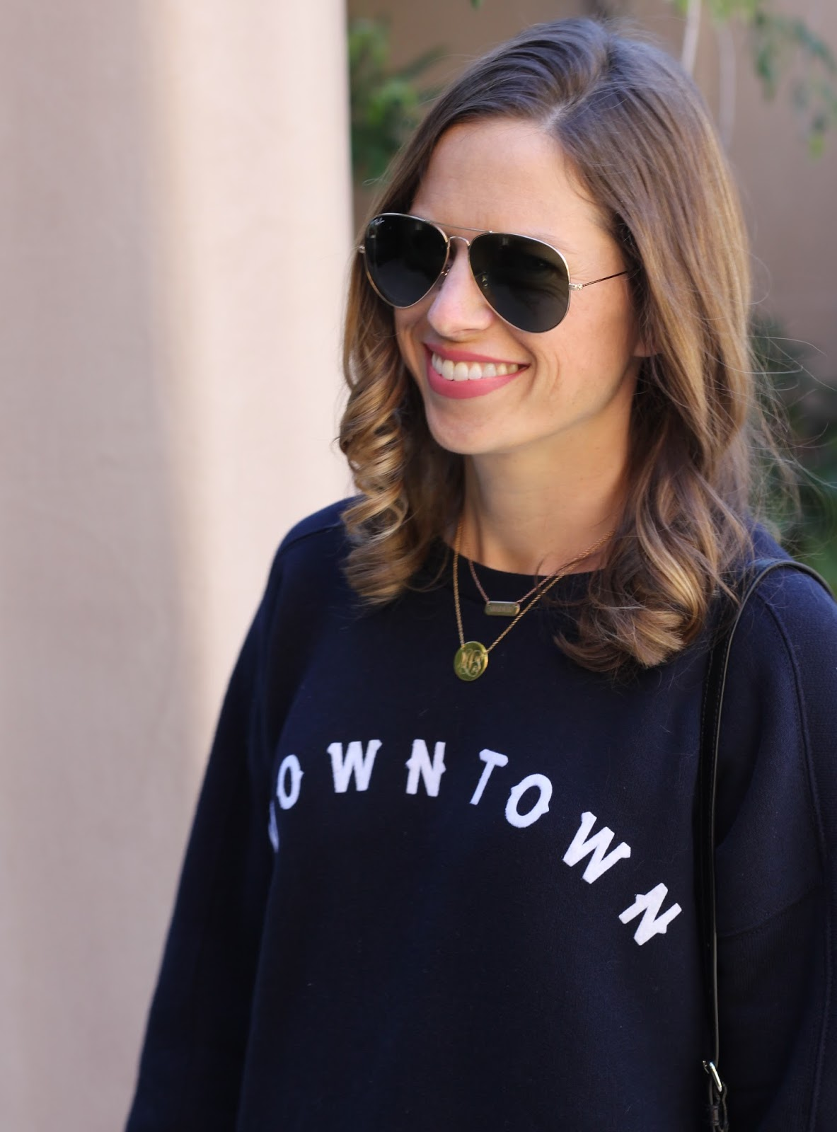 nameplate and monogram layered necklace