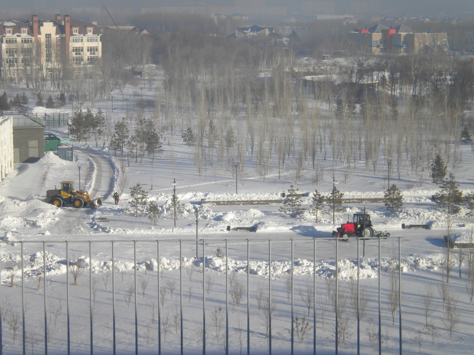 Excavating Snow in Astana