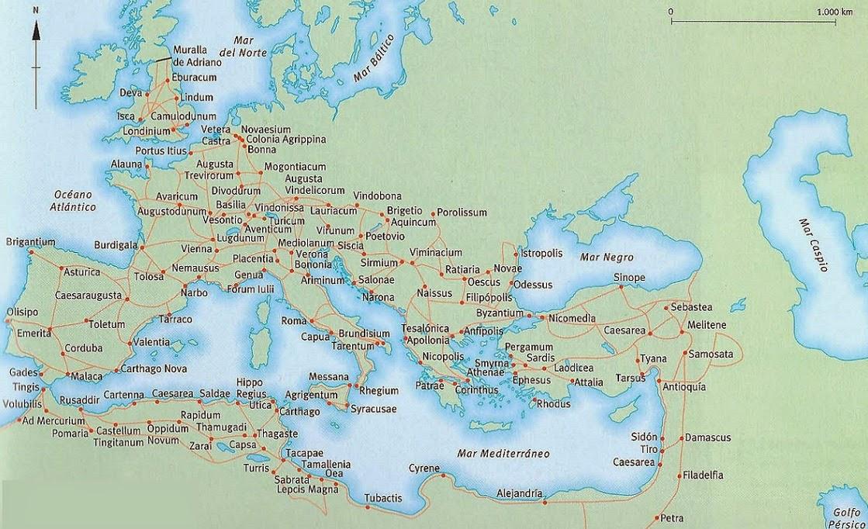 Rutas de las calzadas romanas