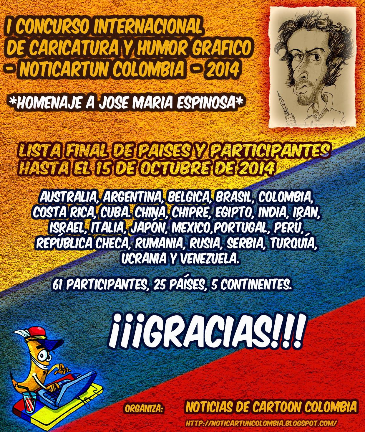 LISTA OFICIAL DE PARTICIPANTES (Cierre: 15 de Oct.)