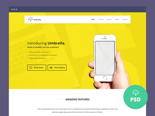Ultimate App Landing Page PSD Template