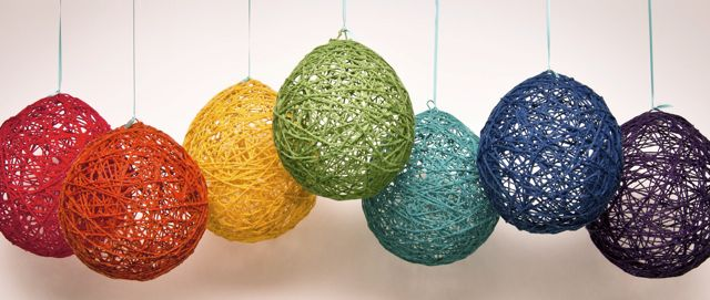 Yarn Balloon Glue Craft