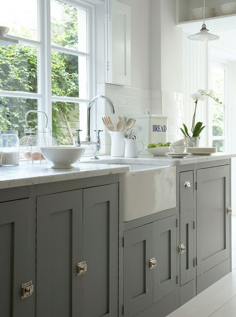 Uptown Country: Gray Kitchen Cabinets?