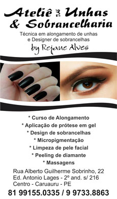 ATELIÊ DAS UNHAS E SOBRANCELHARIA