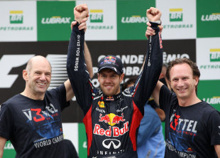 Trio Hebat Red Bull Racing - Adrian Newey, Sebastian Vettel & Christian Horner