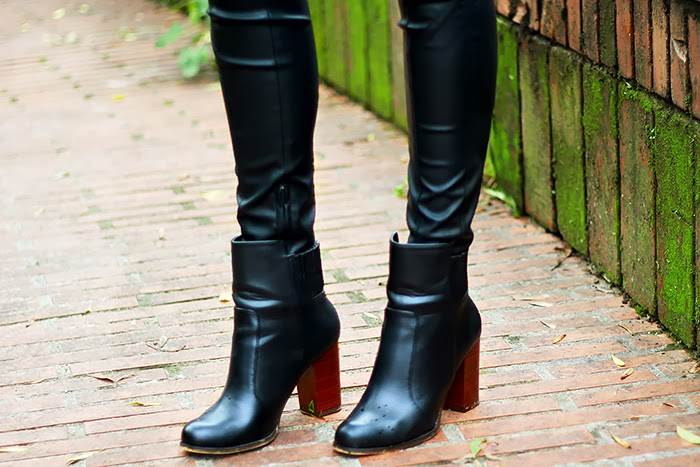leather pants, zara boots