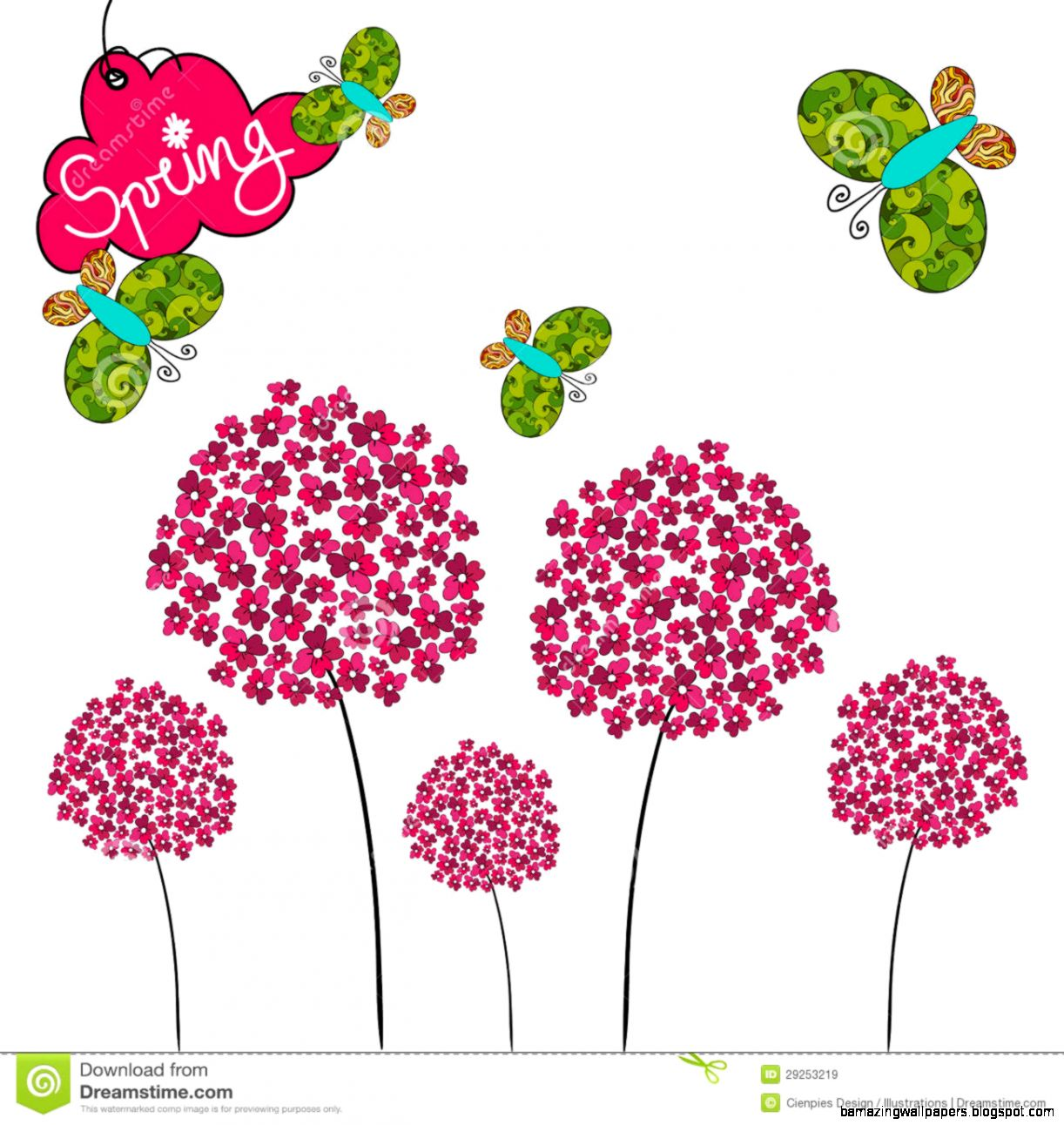 Cute Spring Background Royalty Free Stock Images   Image 29253219
