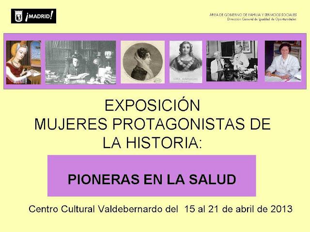 Expo Valdebernardo 15 21 abril Mujeres pioneras en la salud