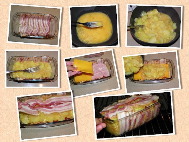 Pastel De Tortilla De Patata Y Bacon